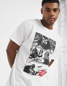 Белая футболка с принтом ASOS DESIGN Star Wars-Белый