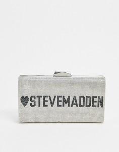 Серебристый клатч Steve Madden-Серебряный