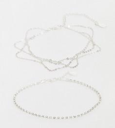 Набориз2 серебристых браслетов-цепочек на ногуAccessorize-Серебряный