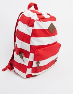 Красный рюкзак в полоску Vans Old Skool Plus