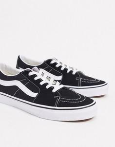 Черно-белые кроссовки Vans SK8-Low-Черный