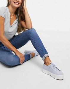 Супероблегающие джинсы с завышенной талией Levis Mile-Синий