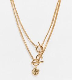 Золотистое ожерелье с солнцем и луной ASOS DESIGN Curve-Золотой