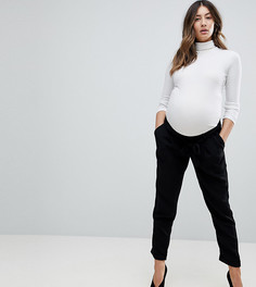 Брюки-галифе с поясом оби ASOS DESIGN Maternity-Черный