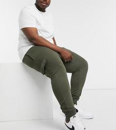 Джоггеры карго цвета хаки Burton Menswear Big & Tall-Зеленый