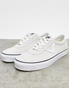 Белые замшевые кроссовки Vans UA Sport-Белый