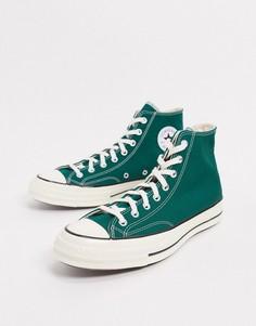 Темно-зеленые кроссовки Converse Chuck 70 Hi-Зеленый