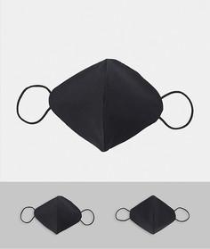 2 черные маски для лицаNew Look-Черный