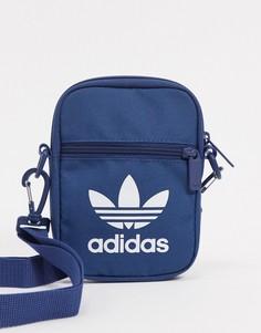 Фестивальная сумка с логотипом-трилистником adidas Originals-Синий