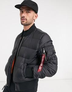 Черная нейлоновая курткаAlpha Industries-Черный