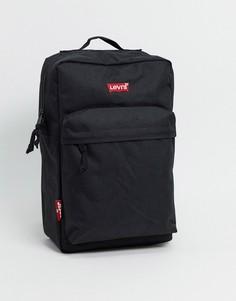 Черный рюкзак с логотипом Levis