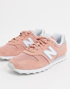 Коралловые кроссовки New Balance 373-Розовый
