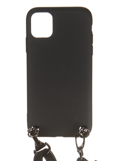 Чехол Ally для APPLE IPhone 11 А1 Soft Touch с ремешком Black A1-01103