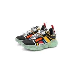 Кожаные кроссовки Moschino