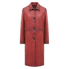 Кожаное пальто Golden Goose Deluxe Brand