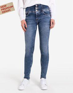Облегающие джинсы с широким поясом Gloria Jeans