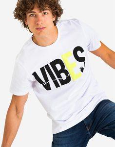 Белая футболка с надписью Gloria Jeans
