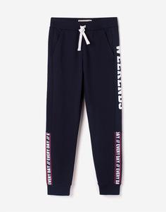 Спортивные брюки со вставками и надписью для мальчика Gloria Jeans