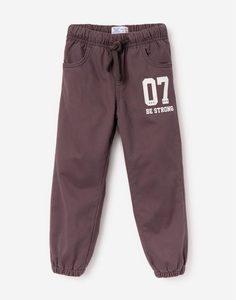 Серые утеплённые брюки-джоггеры для мальчика Gloria Jeans