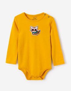 Жёлтое боди для малыша Gloria Jeans