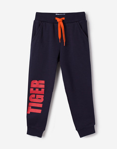 Тёмно-синие спортивные брюки с надписью для мальчика Gloria Jeans