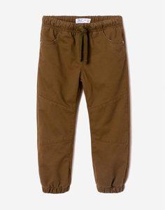 Утеплённые брюки цвета хаки для мальчика Gloria Jeans