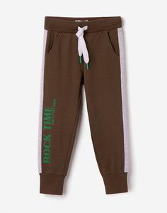 Спортивные брюки с лампасами и надписью для мальчика Gloria Jeans