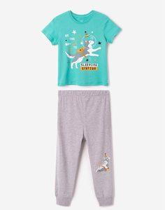 Пижама с космическим принтом для мальчика Gloria Jeans