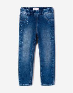 Джеггинсы со стразами для девочки Gloria Jeans