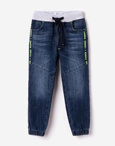 Джинсы-джоггеры с трикотажным поясом для мальчика Gloria Jeans