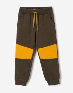 Спортивные брюки хаки со вставками для мальчика Gloria Jeans