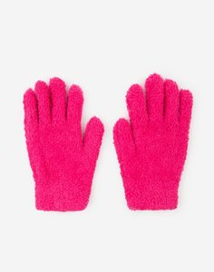 Розовые пушистые перчатки для девочки Gloria Jeans