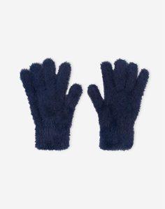 Синие пушистые перчатки для девочки Gloria Jeans