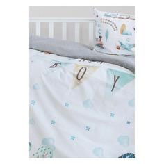 Комплект постельного белья Облачко It`s a boy детск. бязь голубой (753566)