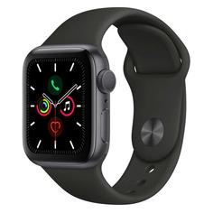 Смарт-часы APPLE Watch Series 5 40мм, серый / черный [mwv82ru/a]