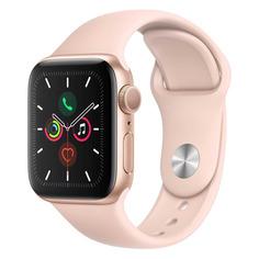 Смарт-часы APPLE Watch Series 5 40мм, золотистый / розовый песок [mwv72ru/a]
