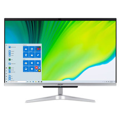 "Моноблок ACER Aspire C24-963, 23.8"", Intel Core i3 1005 G1, 8ГБ, 1000ГБ, 128ГБ SSD, Intel UHD Graphics, Windows 10 Professional, серебристый [dq.beqer.00b]"