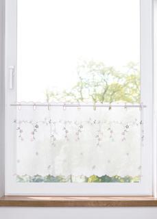 Короткие шторы Занавеска кухонная с цветочной вышивкой Bonprix