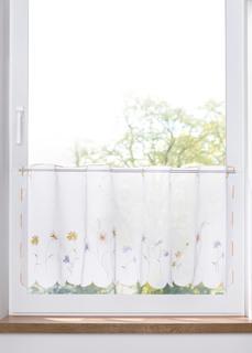 Короткие шторы Занавеска кухонная c цветочной вышивкой Bonprix