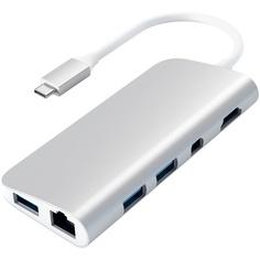 USB разветвитель Satechi Aluminum Type-C Multimedia Adapter для MacBook, серебряный