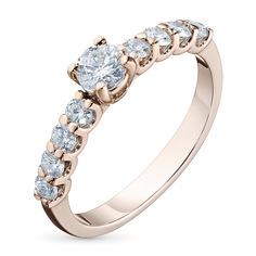Кольцо из красного золота с бриллиантами э0201кц05166500 ЭПЛ Якутские Бриллианты