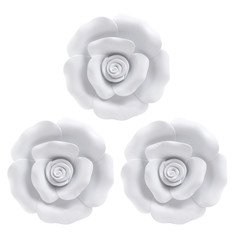 Декор настенный, набор 3 предмета demre (to4rooms) белый 2 см.