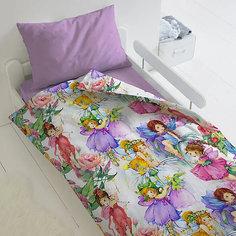 Комплект постельного белья 1,5 сп Непоседа Цветочные феи, наволочка 70х70 см