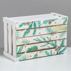 Ящик деревянный present, 21 × 33 × 15 см Дарите Счастье