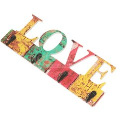 Вешалка настенная Любовь Y3-738 I.K, 4 крючка, 11х29.5 см