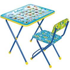 Набор детской мебели Nika Познайка Азбука КП2 КП2/9 (стол, стул мягкий)