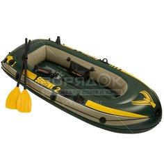 Лодка надувная Intex SeaHawk 68347NP с насосом и веслами, 236х114х41 см