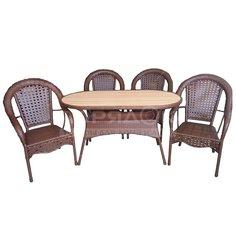 Мебель садовая Аликанте (стол 138х71х75 см, кресло 4 шт), рolywood A297