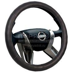 Оплетка на руль Voin Classik М черная, экокожа, 38 см