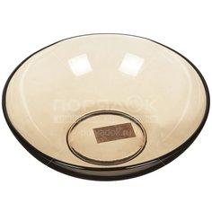 Тарелка обеденная стеклянная, 190 мм, дымка 62070 Basilico